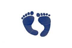 Footprints-6in-blue
