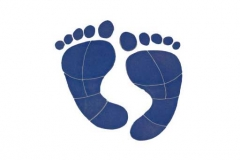 Footprints-8in-blue