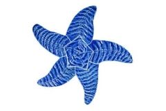 Starfish-9in-blue